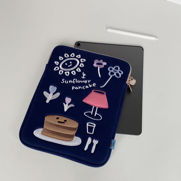 (navy) sunflower pancake pad pouch (S/L)