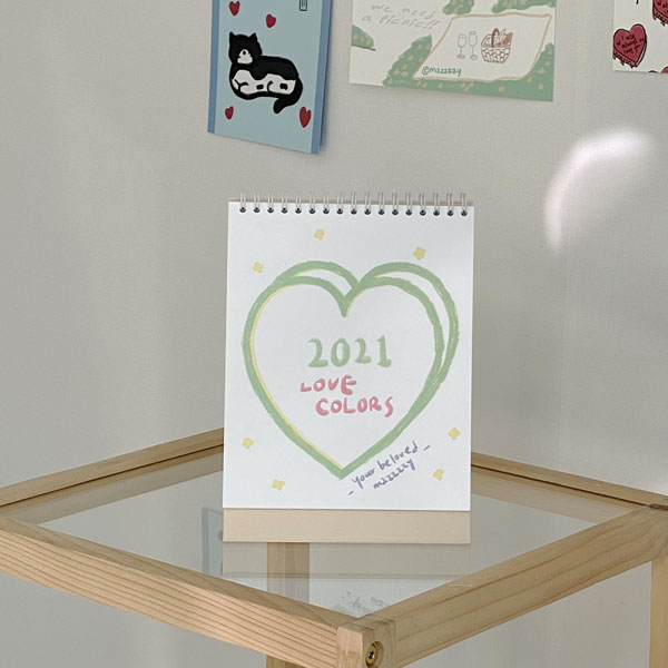 2021 love colors calendar