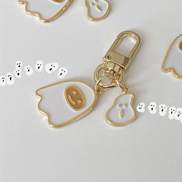 ghost pancake key ring