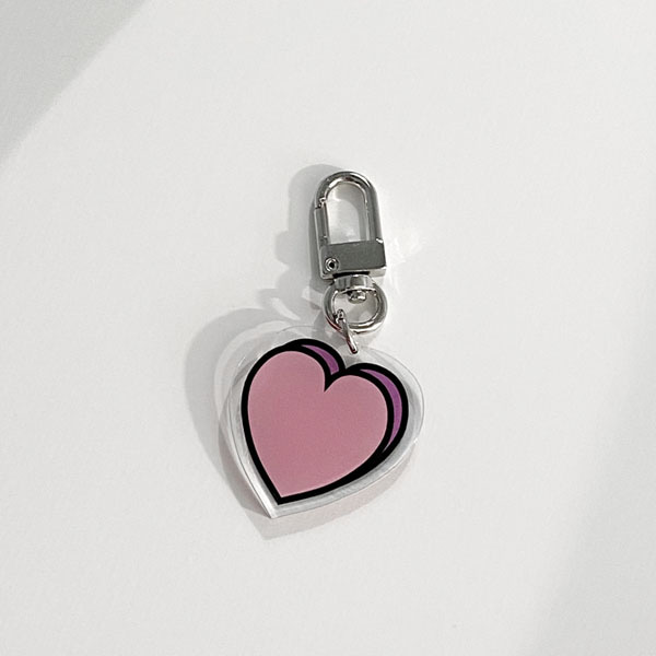 heart key ring (acrylic)