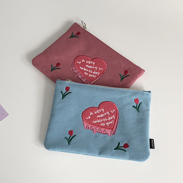 tulip ♥ cake pouch
