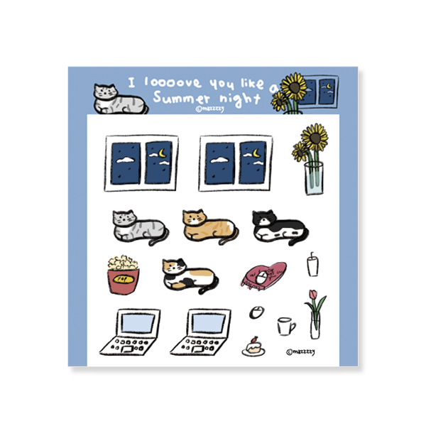i loooove (cat) sticker (투명)