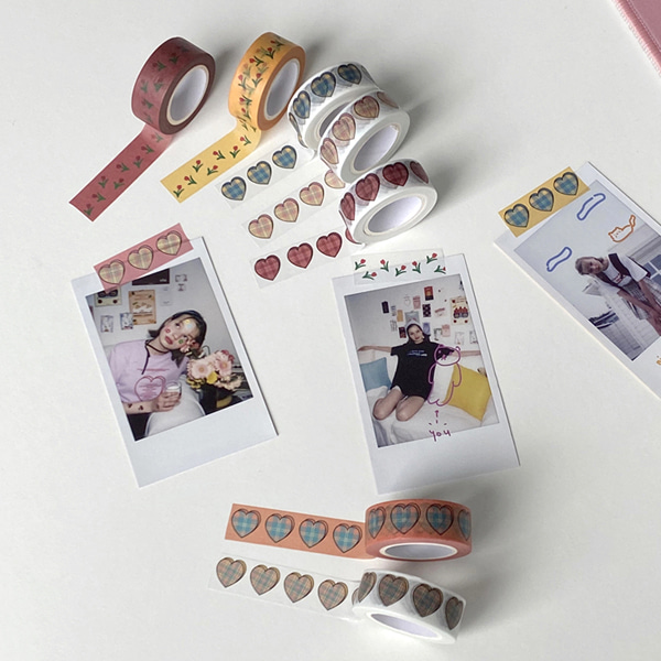 love check & tulip masking tape ( 10 )